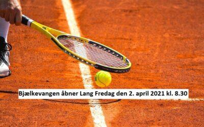 Hjortekær tennis, åbning af baner 2021. Bjælkevangen